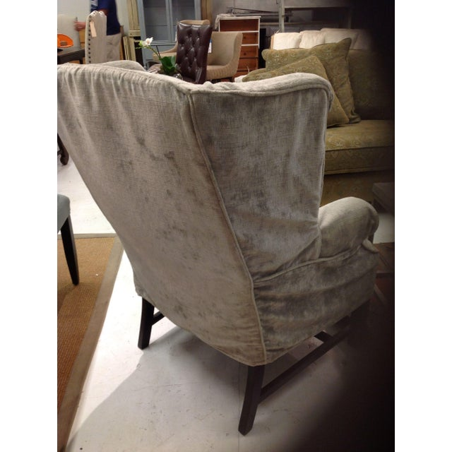 Contemporary Lee Industries Washable Slipcover Wing Chair For Sale - Image 3 of 4