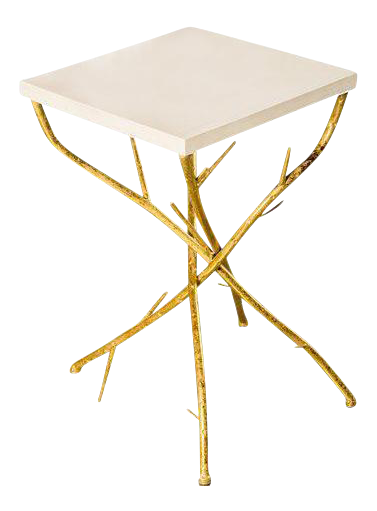 Superieur Maggy Branch Side Table With Gold Legs For Sale
