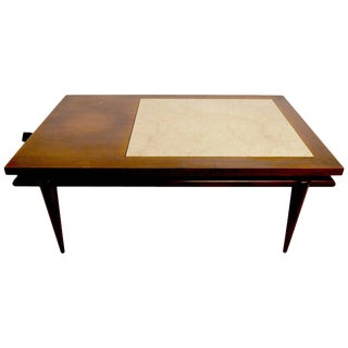 Marble-Top End Coffee Table by John Widdicomb For Sale