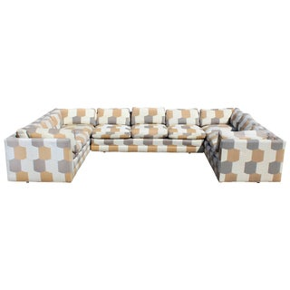 Mid-Century Modern John Mascheroni for Swaim Three-Piece Sectional Sofa, 1960s For Sale