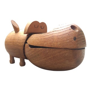 Zoo Line Wooden Hippopotomus Box For Sale
