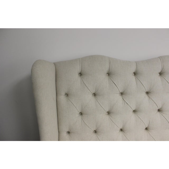 Contemporary Tufted Wing Back Sofa For Sale - Image 3 of 6