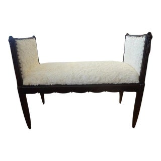 1930's French Art Deco Bench-Dominique Inspired For Sale