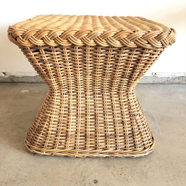 1960s 1960s Mid-Century Rattan Side Table For Sale - Image 5 of 5