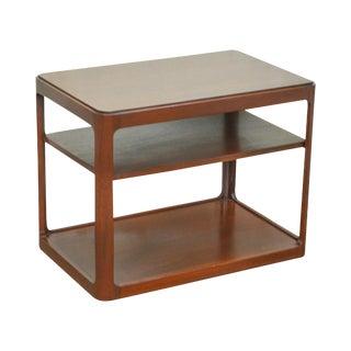 Dunbar Mid Century Modern Mahogany Side Table W/ Shelf