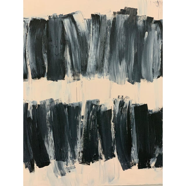Early 21st Century Carolanna Parlato After Melancholia III Abstract Black Beige Painting 2019 For Sale - Image 5 of 6