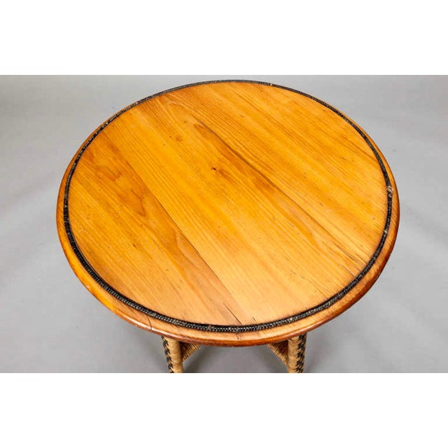 1920's Round Wicker Side Table - Image 4 of 4