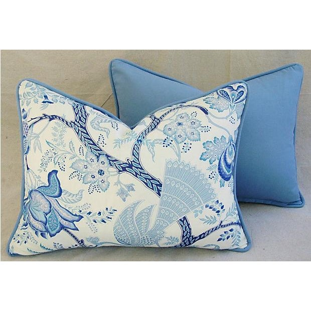 Designer Stroheim Jaidee Blue/White Pillows - Pair - Image 6 of 8