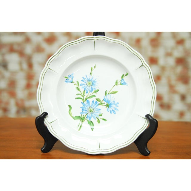 """Ceramic Set of 66 French Luneville Hand-Painted Floral Dining Plates """"Rovina Epinal"""" For Sale - Image 7 of 11"""