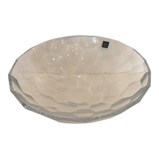 Crystal Faceted Bowl