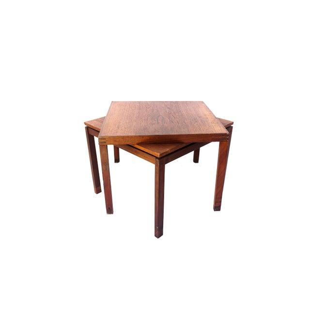 Danish Modern Mid-Century Hans Olsen Teak End Table || Made in Denmark || One of Two For Sale - Image 3 of 13