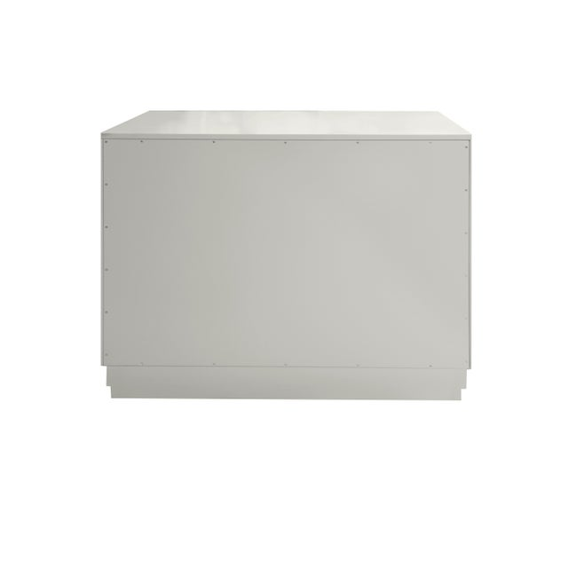 Kindel Furniture Minimalistic Maple Filing Cabinet From Garden Street in White with Contrasting Putty Drawer For Sale - Image 4 of 6