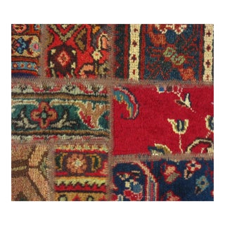"Pasargad N Y Persian Patch-Work Decorative Hand-Knotted Area Rug - 1'4""x1'4"" For Sale"