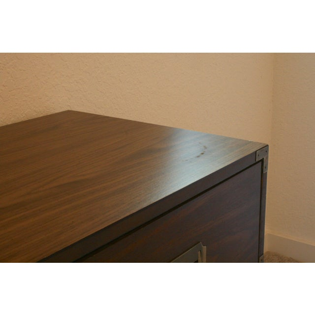 Brown 20th Century Campaign Style 3 Drawer Dresser For Sale - Image 8 of 9