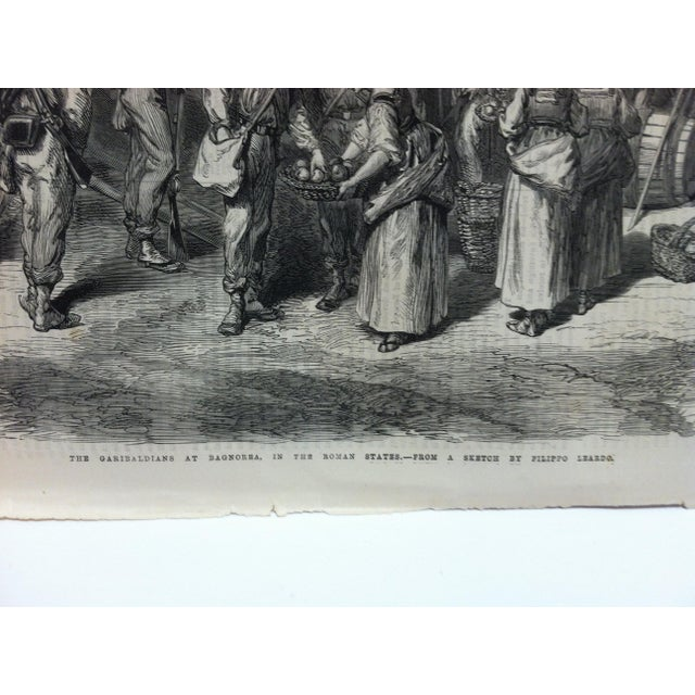 "This is an Antique The Illustrated London News Print that is titled ""The Garibaldians at Bagnorea - In The Roman States""...."