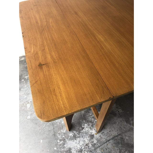 1950s Vintage Mid Century Modern Expanding Dining Table by Edward Wormley for Drexel Furniture For Sale - Image 5 of 13