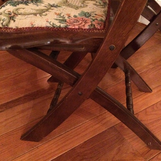 Vintage Victorian Style Campaign Parlor Chairs - Set of 4 - Image 10 of 11