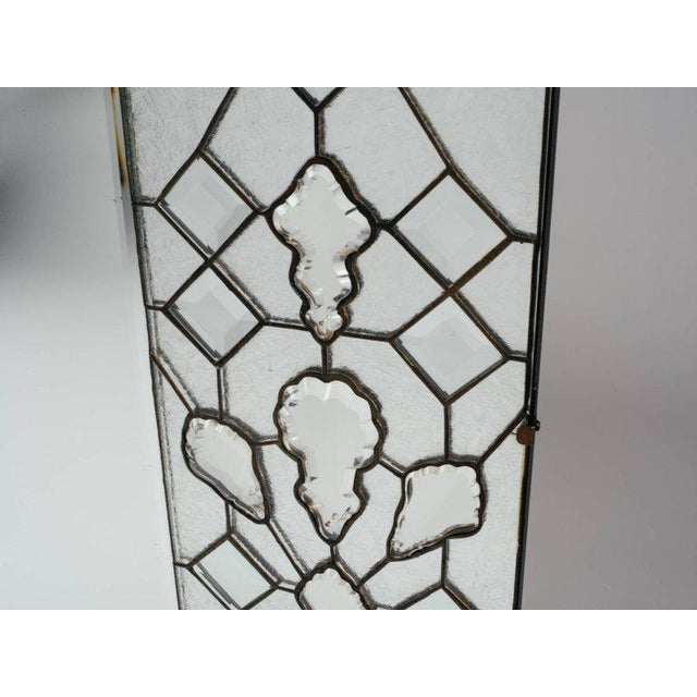Transparent Opulent Hollywood Regency Mirror With Large Cut Crystals, 1940's For Sale - Image 8 of 12