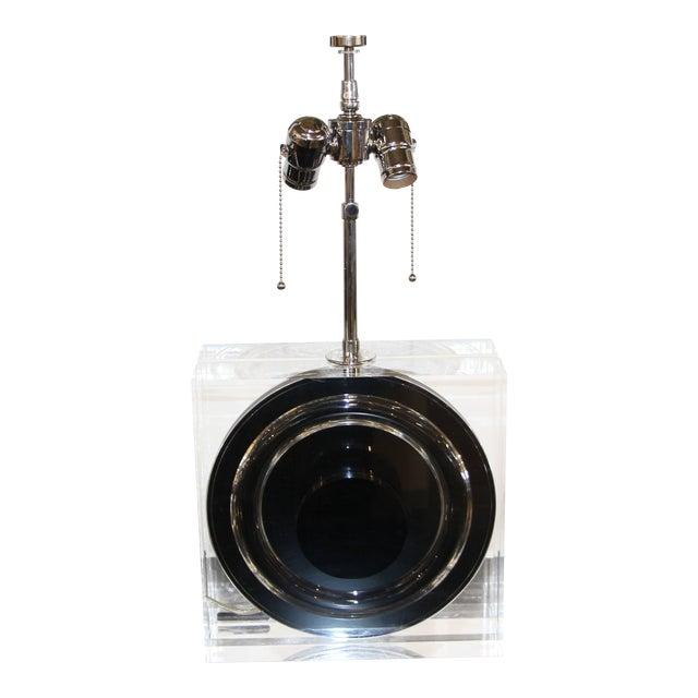 Felice Antonio Botta Lucite Lamp For Sale
