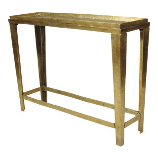 1980s Contemporary Patinated Steel Console For Sale