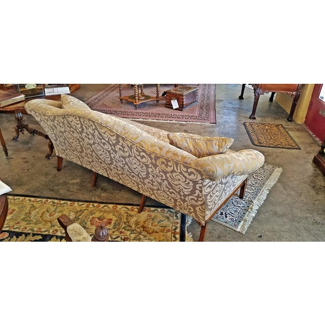 19c Chippendale Style Camel Back Sofa For Sale - Image 4 of 12