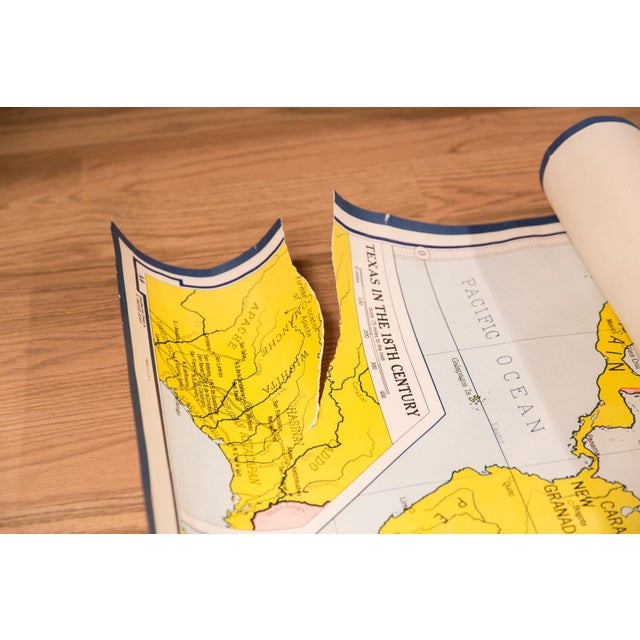 Vintage Partition of America Map For Sale In New York - Image 6 of 8