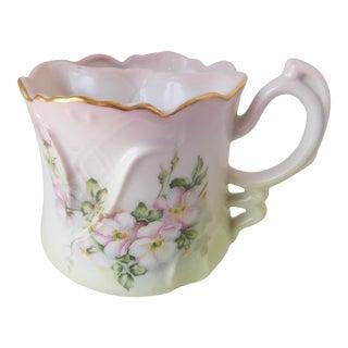 Antique 1890 Hand-Painted Porcelain Nippon Shaving Mug For Sale