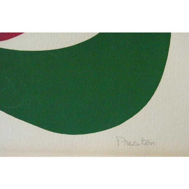 1970s Vintage Original Irish Abstract Signed Linocut Print For Sale - Image 4 of 7
