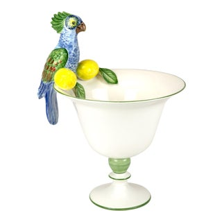 Parrot Centerpiece Bowl from Turkey For Sale