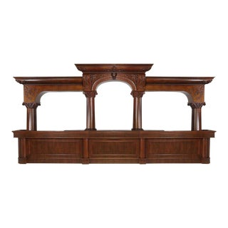 1990s Vintage Traditional Wooden Dry Bar For Sale