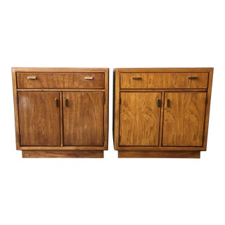 1970's Vintage Mid Century Drexel Consensus Nightstands-a Pair For Sale