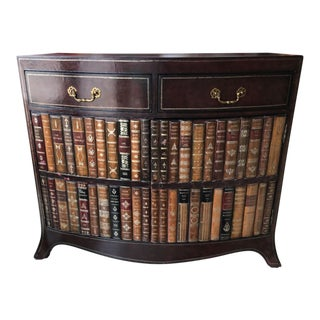 Maitland-Smith Book Spines Tooled Leather Cabinet
