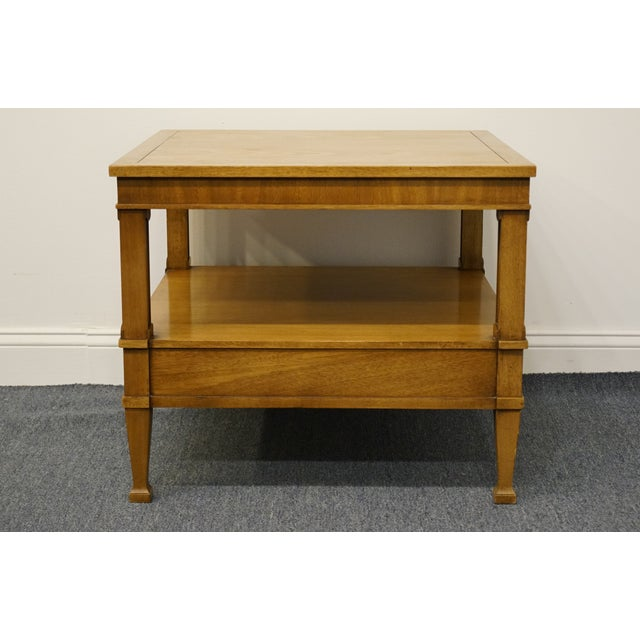 "Drexel Heritage Triune Collection Mahogany 26"" Square End Table For Sale - Image 10 of 13"