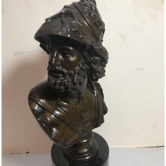 French Grand Tour French Bronze Bust of Ajax For Sale - Image 3 of 10