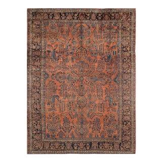 1910s Antique Persian Sarouk Rug - 10′ × 13′ For Sale