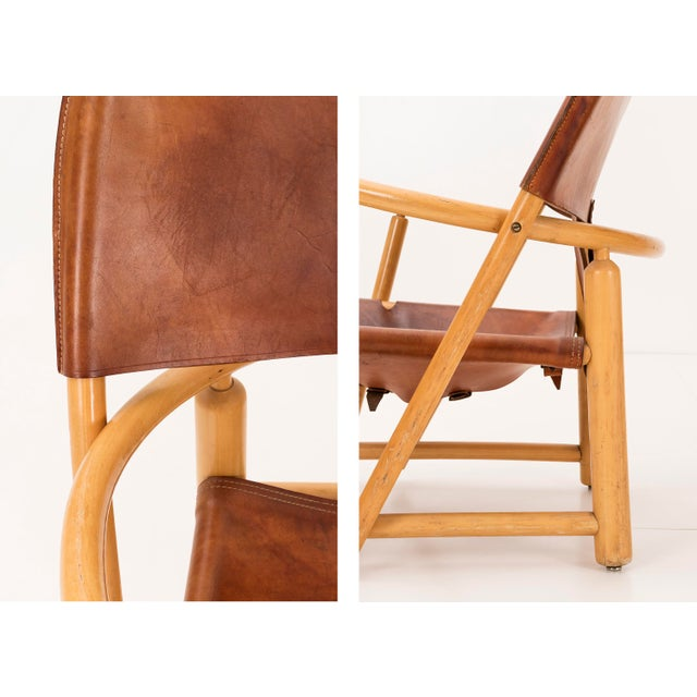"""Brown Pair of Werther Toffoloni and Piero Palange """"Hoop"""" Lounge Chairs For Sale - Image 8 of 10"""