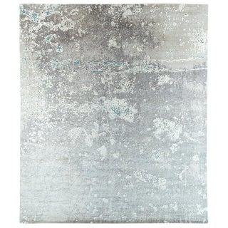 Abstract Organic Area Rug in Silk and Wool Bu Carini, For Sale