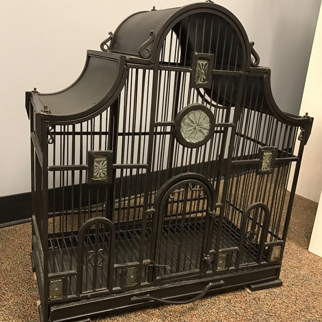Victorian Wrought Iron Bird Cage - Image 3 of 7