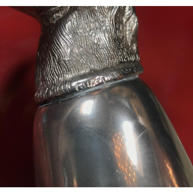 Silver Gucci Vintage Silver Metal Horse Heads Cup, Italy, 1970s For Sale - Image 8 of 10