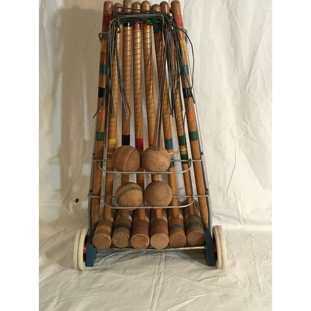 1950's Croquet Game Set For Sale - Image 5 of 11