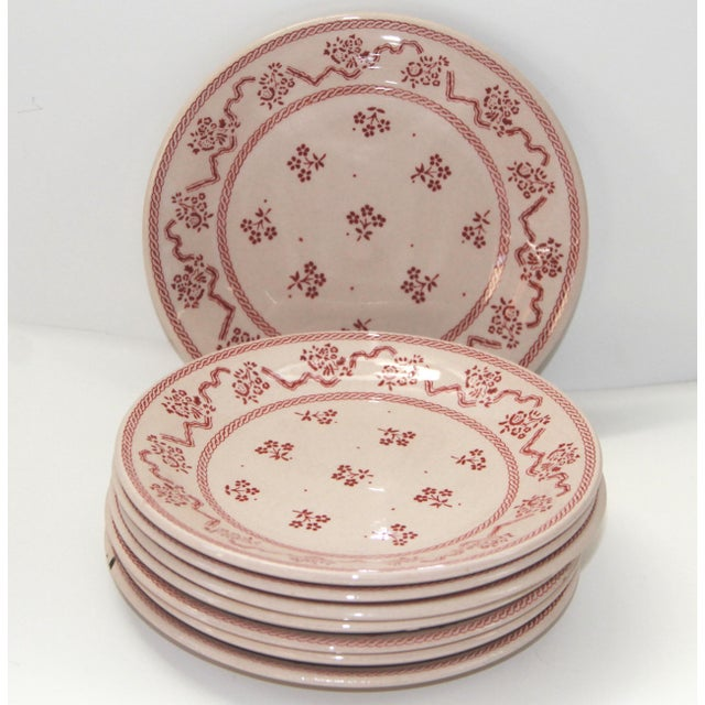 Laura Ashley Transfer Ware Ironstrone Bread & Butter Plates - Set of 8 For Sale - Image 4 of 4