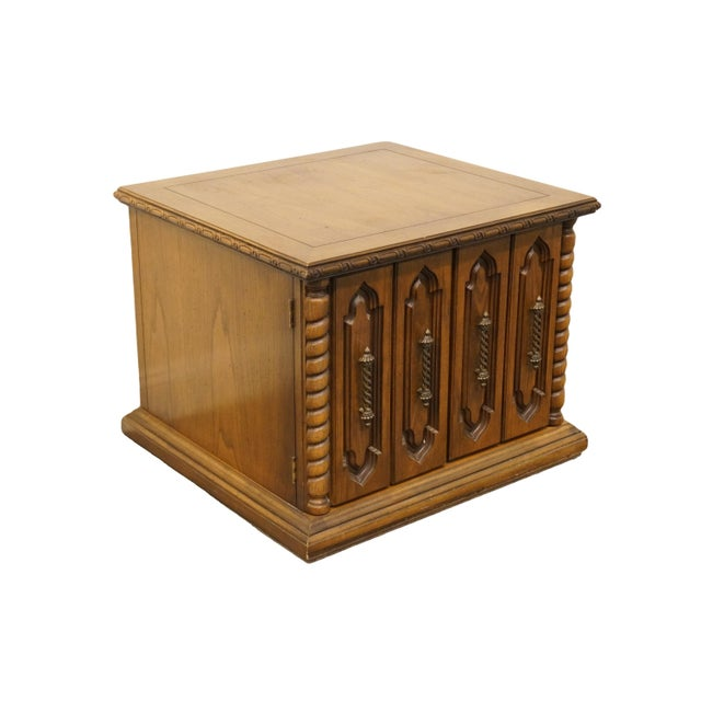 "Lane Furniture Italian neoclassical Tuscan style 29x27"" commode/storage end table. We specialize in high end used..."