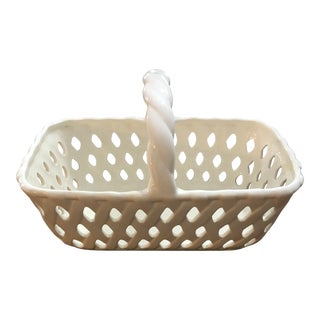 1990s Portmeirion Studio Valerie Ceramic Basket For Sale