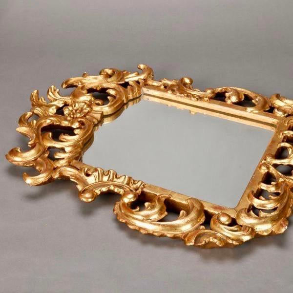 Italian Gilt Mirror With Scrolling For Sale - Image 4 of 4