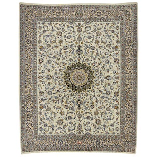 Vintage Persian Najafabad Rug With Light Colors - 9′9″ × 12′2″ For Sale