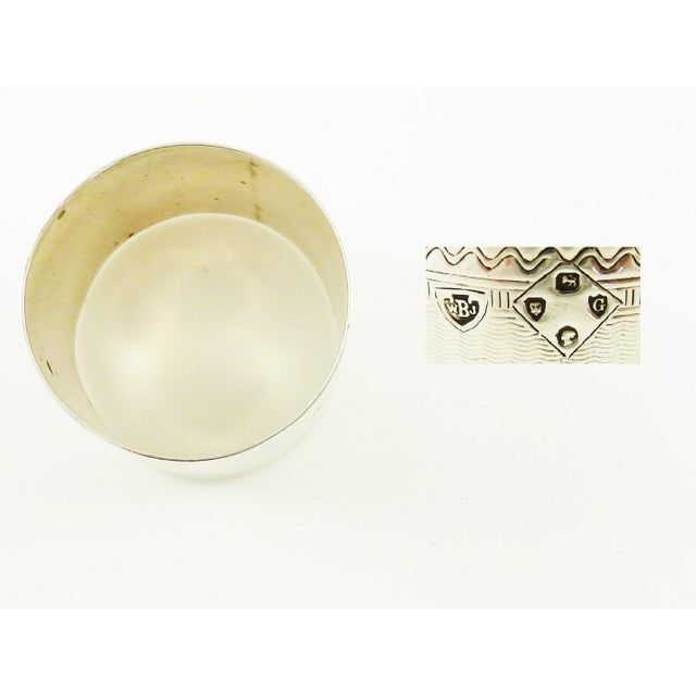 Antique Victorian Era Sterling Silver Childs Napkin Ring Christening Gift For Sale - Image 6 of 7