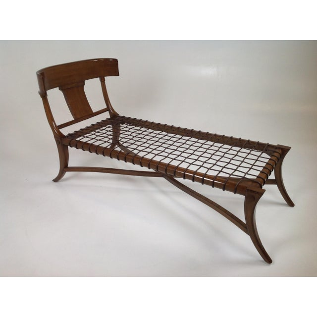 Mid-Century Modern Mid Century Modern Style Klismos Chaise Lounge For Sale - Image 3 of 5
