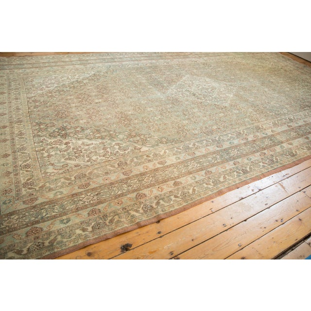 "Vintage Distressed Bibikabad Carpet - 9'5"" X 18'2"" For Sale - Image 12 of 13"