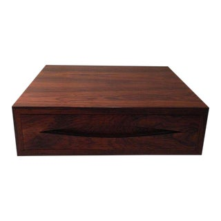 "Arne Vodder ""Bowtie"" Series Rosewood Storage Box For Sale"