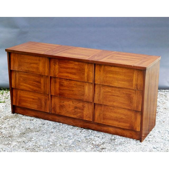 Boho Chic Modern Nine Drawer Low Boy Dresser For Sale - Image 3 of 10